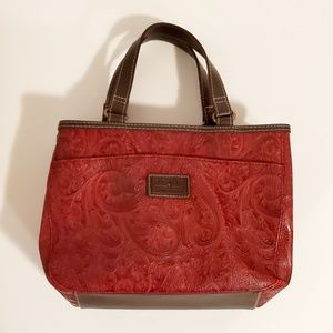 Relic Red Paisley Print Mini Handbag
